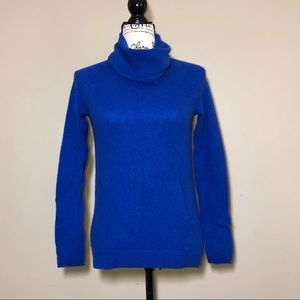 Joie blue 100% cashmere turtle neck sweater XS